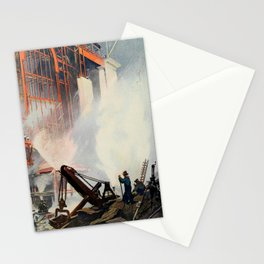 Oakley, Thornton (1881-1953) - Scribner's 52 1912 - Construction of New Grand Central Station Stationery Cards