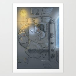 White Night Art Print