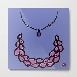 Purple necklace Metal Print