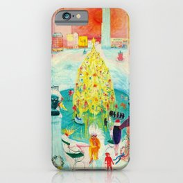 New York City, Winter Time Portrait by Florine Stettheimer iPhone Case