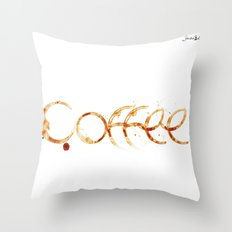 Coffe colors fashion Jacob's Paris Throw Pillow