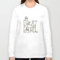 sci fi Long Sleeve T-shirts featuring Sci Fi Afternoon by Madmi