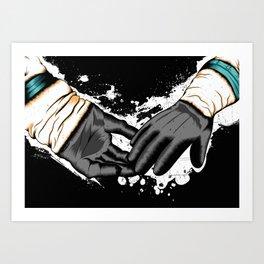 Together Let Us Walk Amongst The Stars Art Print