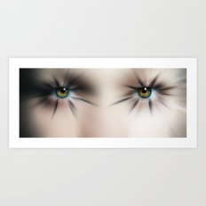 Bating her Lashes  Art Print