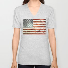 Painted Stars And Stripes Unisex V-Neck