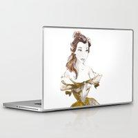 belle Laptop & iPad Skins featuring Belle by waterandinkprints