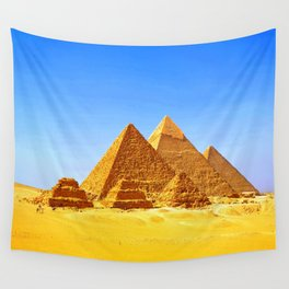 The Pyramids At Giza Wall Tapestry