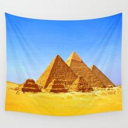 The Pyramids At Giza Wall Tapestry