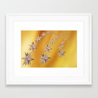 constellation Framed Art Prints featuring constellation by Tanja Riedel