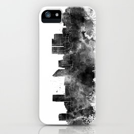 The Hague skyline in watercolor background iPhone Case