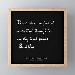 7   Inner Peace Quotes 190509 Framed Mini Art Print