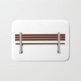 Forrest gump park bench Bath Mat