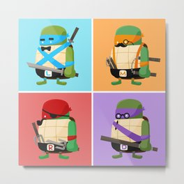 Turtles in Disguise Metal Print
