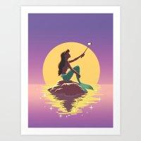 The Little Mermaid - Ariel Selfie Art Print