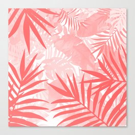 Elegant Tropical Blush Paradise Canvas Print
