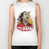 zlatan Biker Tanks featuring Zlatan by Conal Deeney