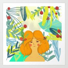 Let's be adventurers Girl Art Print