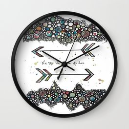 Not All Who Wander Are Lost Arrows Wall Clock