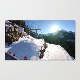 Mountains transport Canvas Print