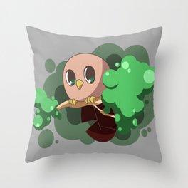 Chick-Pea Owl Throw Pillow
