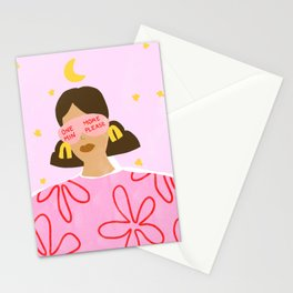 One More Minute Please Stationery Cards