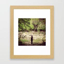 Greenbelt Riverbed Framed Art Print