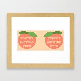 Peachy F*ckin' Keen Framed Art Print
