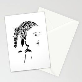 Paper Cut - Woman No. 2 Stationery Cards