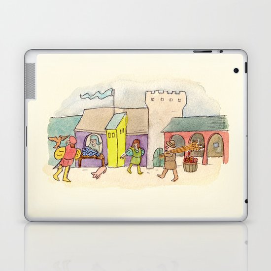 A Day at the Market Laptop & iPad Skin