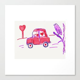 Valentine Delivery Canvas Print