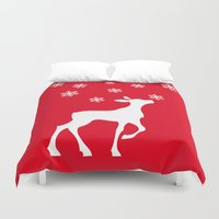 fawn Duvet Covers featuring fawn by Li-Bro