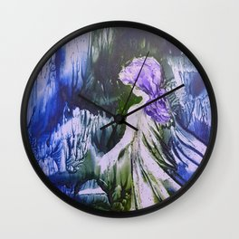 Lost Girl 2 - Blue Forest Wall Clock