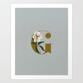 G for Gardenia Art Print