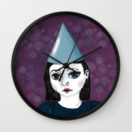 Lonely Girl has a party Wall Clock