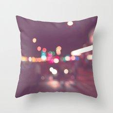 Street Bokeh Throw Pillow