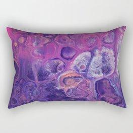 Fluid Nature - Dark Flowers - Abstract Acrylic Art Rectangular Pillow