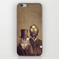 victorian iPhone & iPod Skins featuring Victorian Robots  by Terry Fan