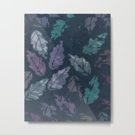 Abstract leaf painting Metal Print
