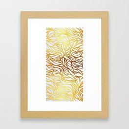 GOLD petals Framed Art Print