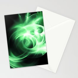 abstract fractals 1x1 reacde Stationery Cards
