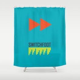 Minimal Shapes Robot Face Shower Curtain