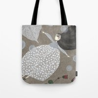 sia Tote Bags featuring Summer's End by Judith Clay