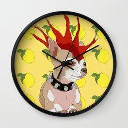 Bad ass summer chihuahua Wall Clock