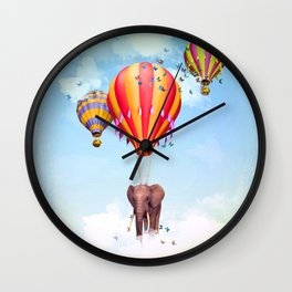 Elephant first fly Wall Clock