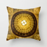 college Throw Pillows featuring Flagler College by MucklowArt