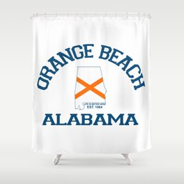 Orange Beach - Alabama. Shower Curtain