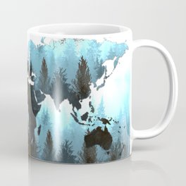 world map forest Coffee Mug
