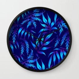 Brooklyn Forest - Blue Wall Clock