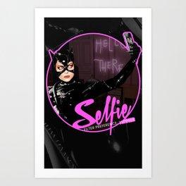 Catwoman Takes A Selfie Art Print