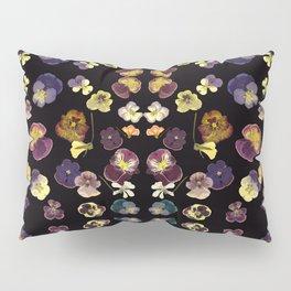 Dark Pansies Pillow Sham